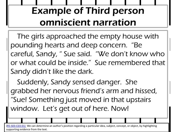 Example of Third person omniscient narration