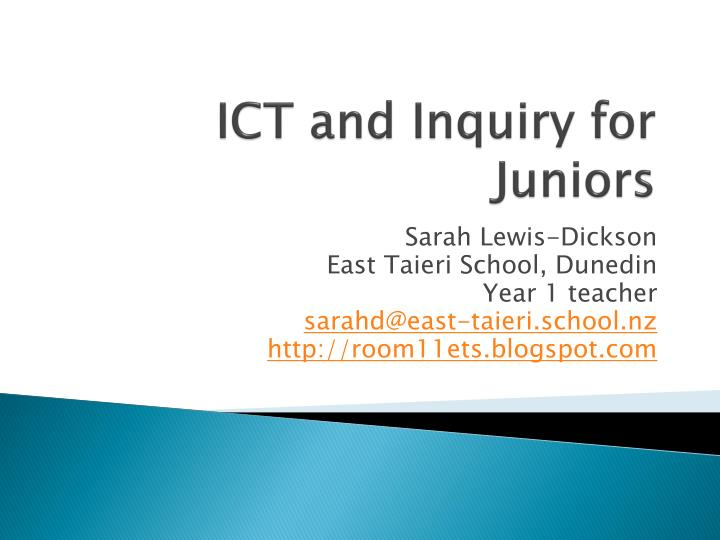 ict and inquiry for juniors n.