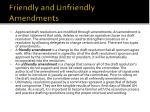 friendly and unfriendly amendments