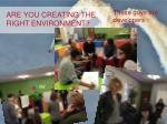 are you creating the right environment