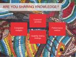 are you sharing knowledge