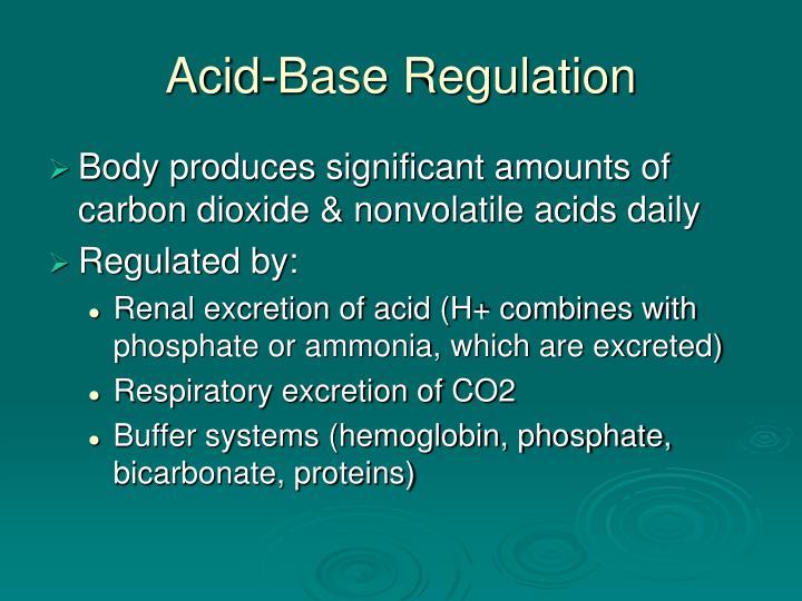 Acid base regulation