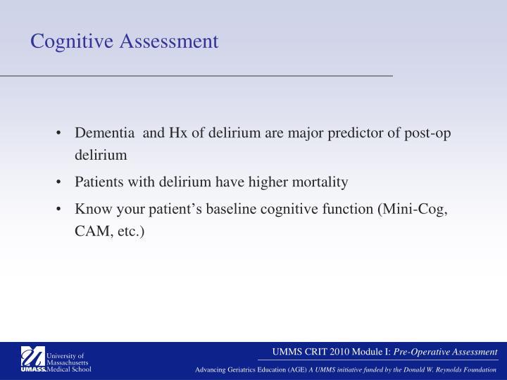Cognitive Assessment