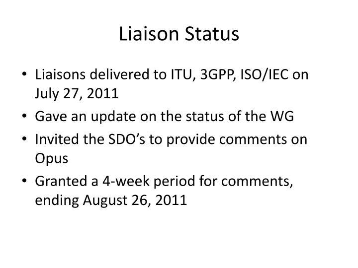Liaison Status