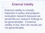 external validity1