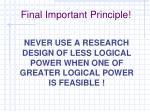 final important principle