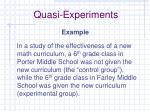 quasi experiments1