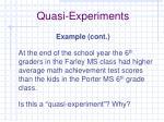 quasi experiments2