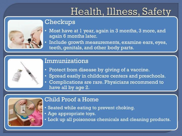Health, Illness, Safety
