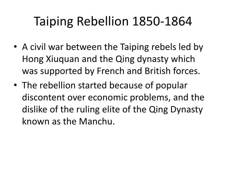 Taiping Rebellion 1850-1864