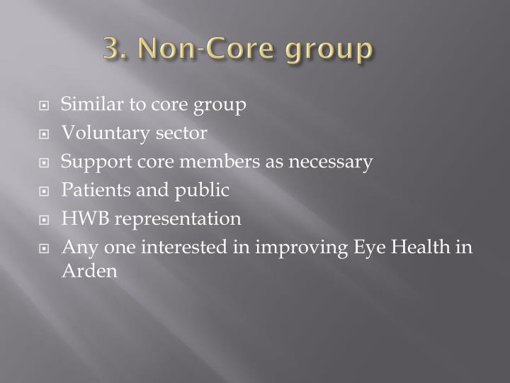 3. Non-Core group