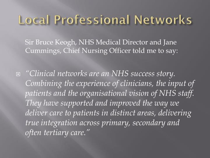 Local Professional Networks