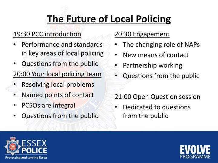 The future of local p olicing