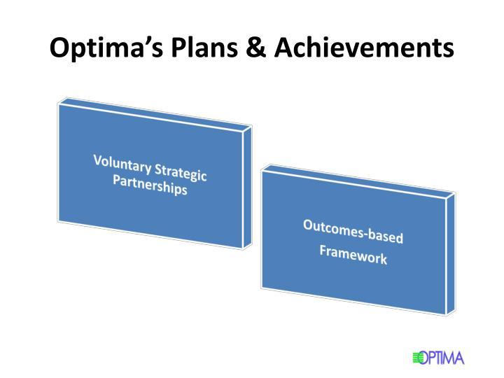Optima's Plans & Achievements