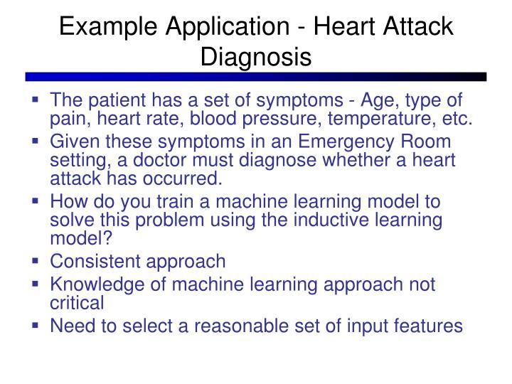 Example Application - Heart Attack Diagnosis