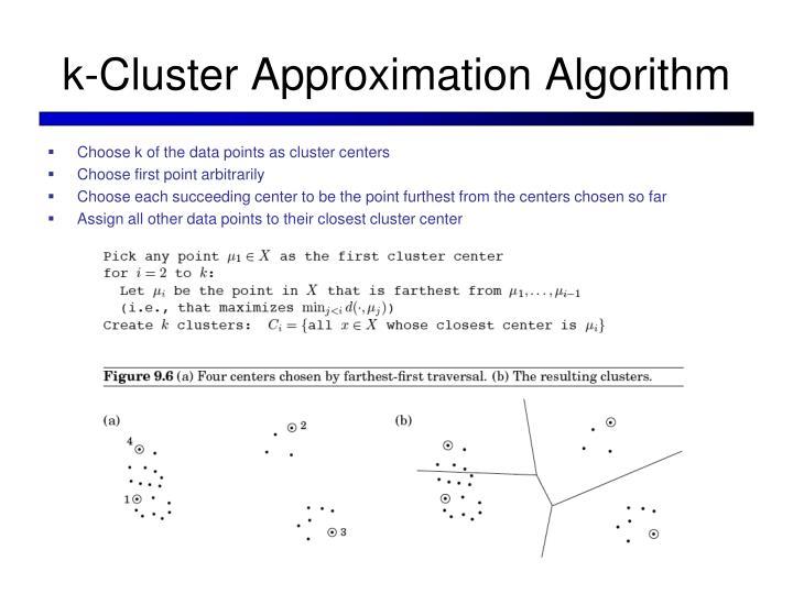k-Cluster Approximation Algorithm