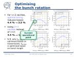 optimising the bunch rotation
