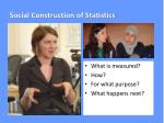 social construction of statistics