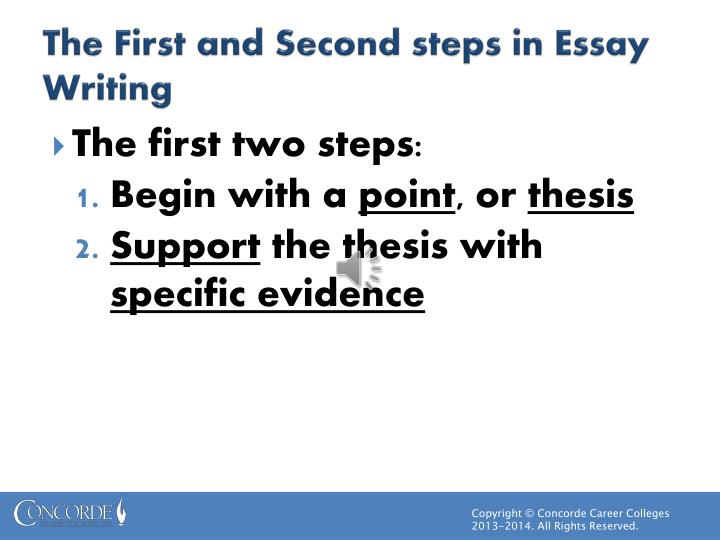 ppt  thesis statements powerpoint presentation  id the first and second steps in essay writing