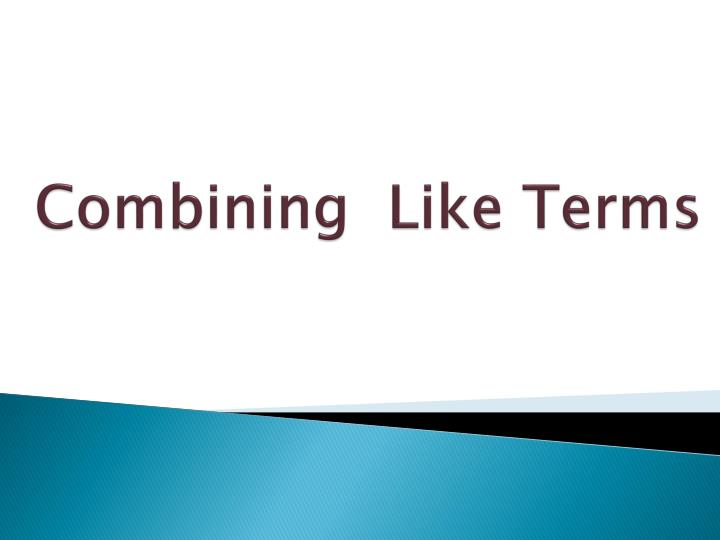 combining like terms n.