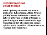 understanding your thesis