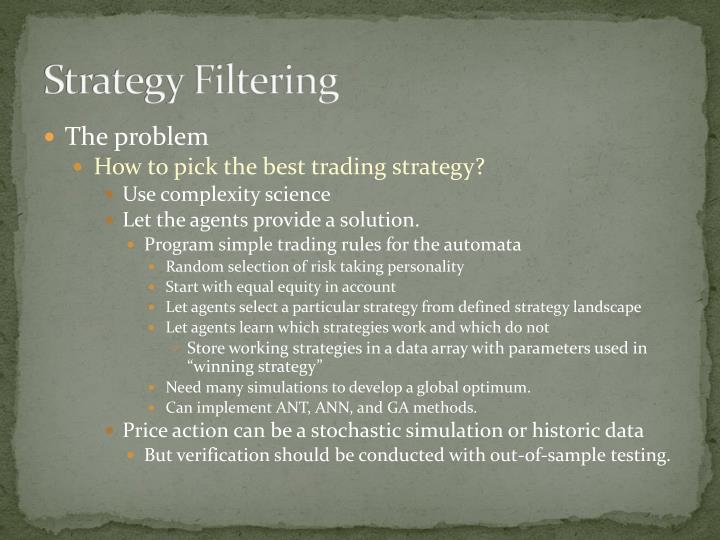 Strategy Filtering