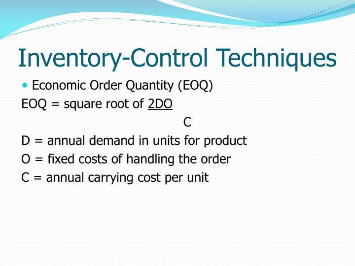 Inventory-Control Techniques