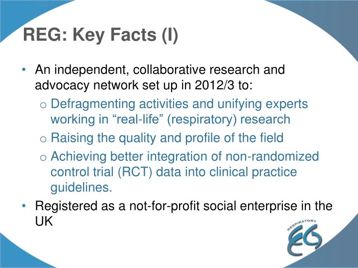 REG: Key Facts (I)