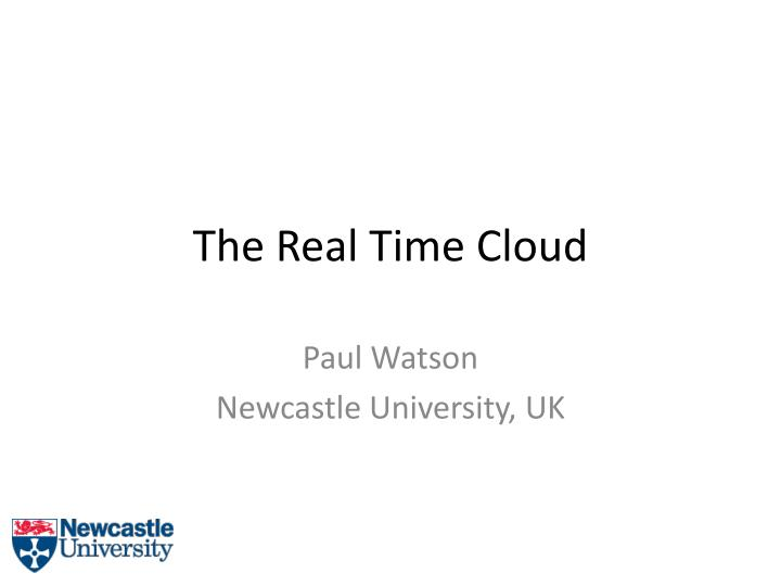 the real time cloud n.