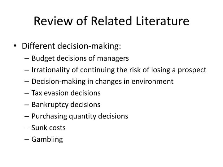review of related literature n.