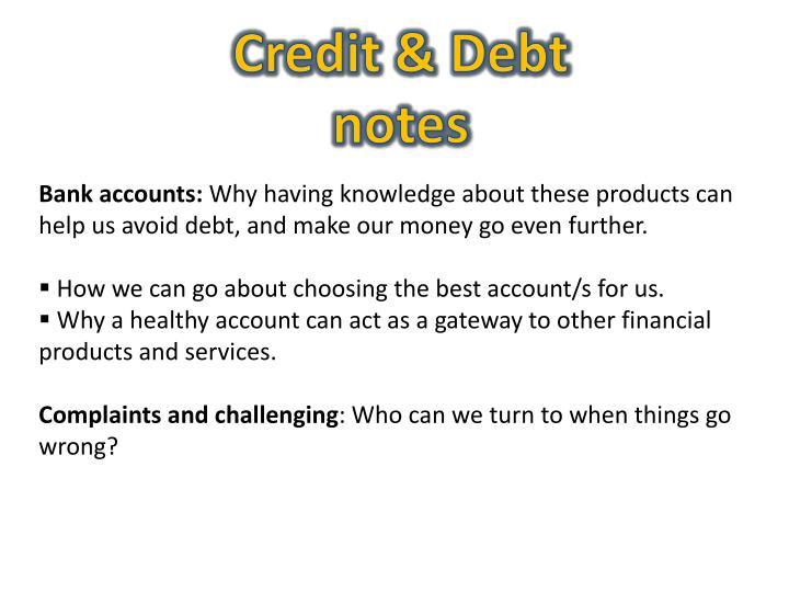 Credit & Debt