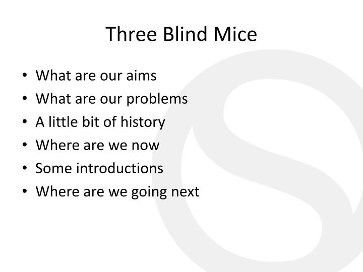 Three blind mice1
