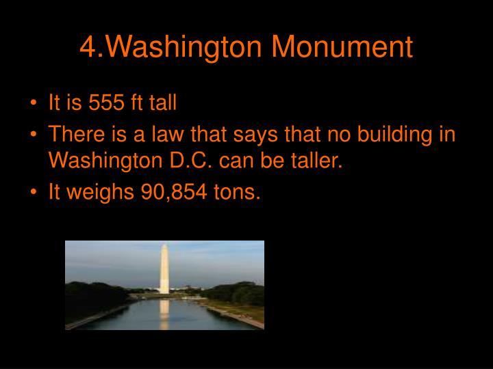 4.Washington Monument