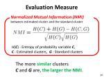 evaluation measure
