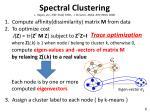 spectral clustering