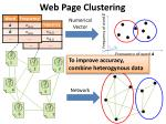 web page clustering