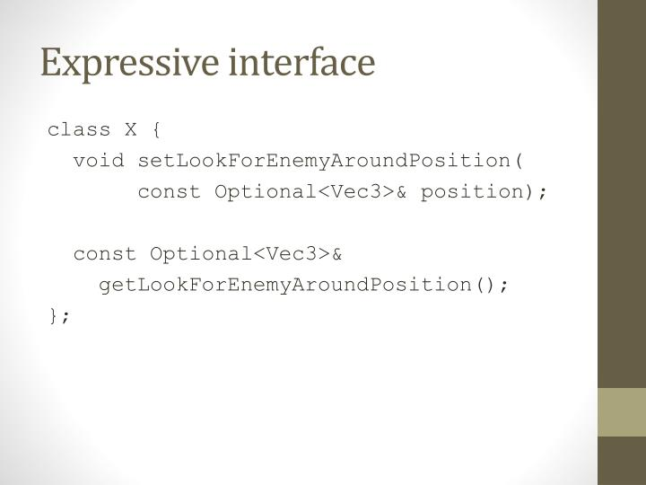 Expressive interface