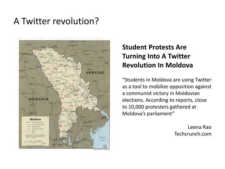 A Twitter revolution?