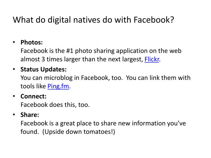 What do digital natives do with