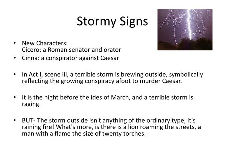 Stormy signs