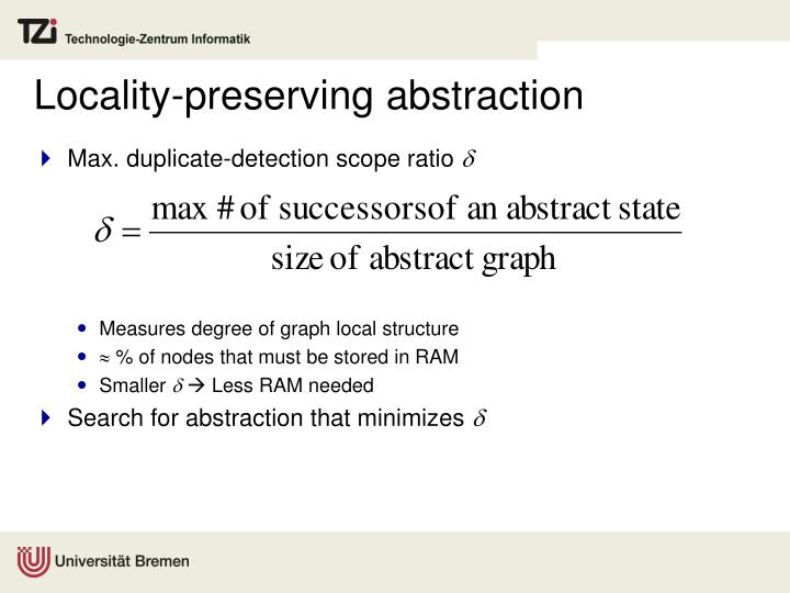 Locality-preserving abstraction