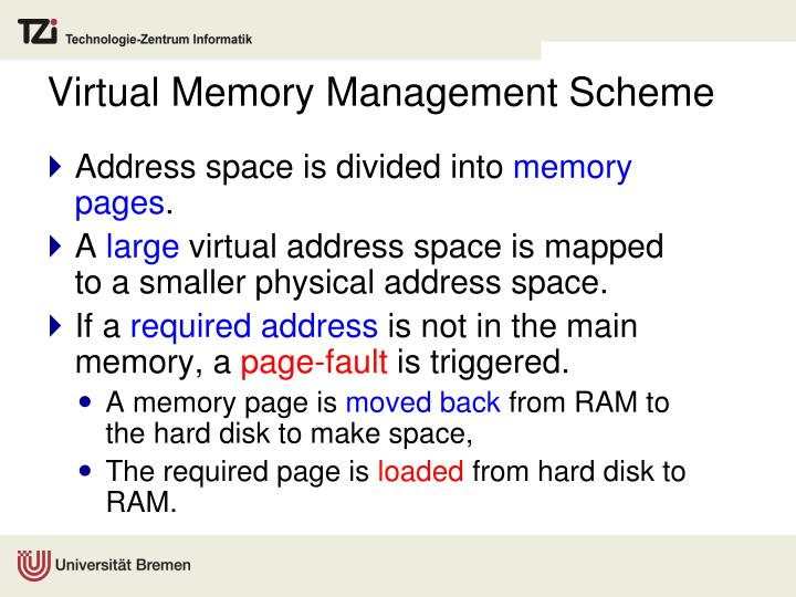 Virtual Memory Management Scheme