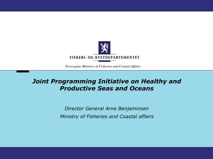 joint programming initiative on healthy and productive seas and oceans n.