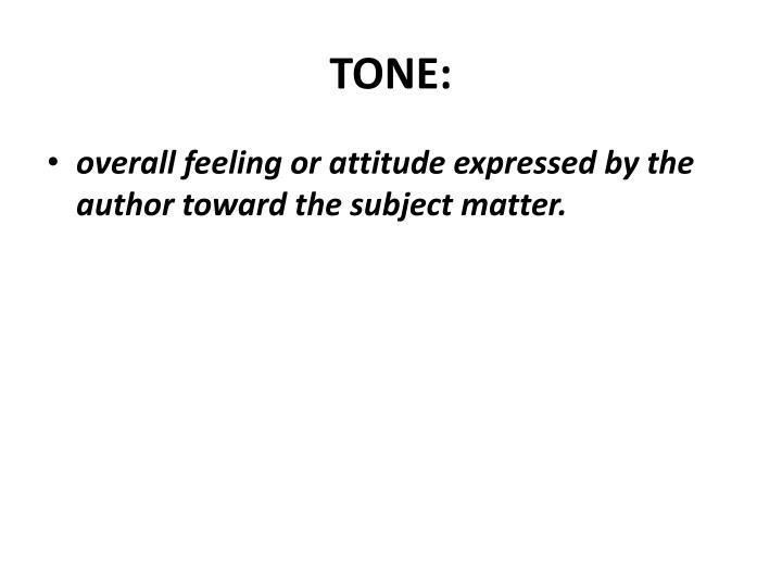 TONE: