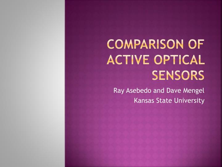 Comparison of active optical sensors
