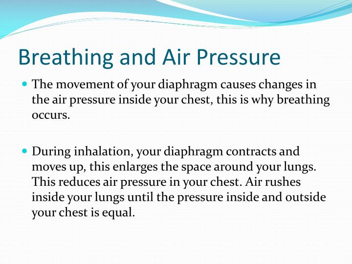 Breathing and Air Pressure