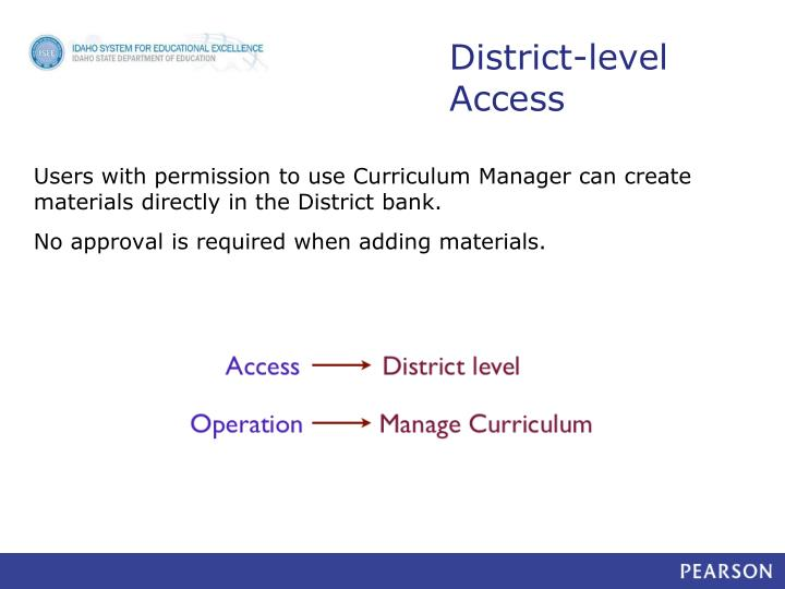 District level access