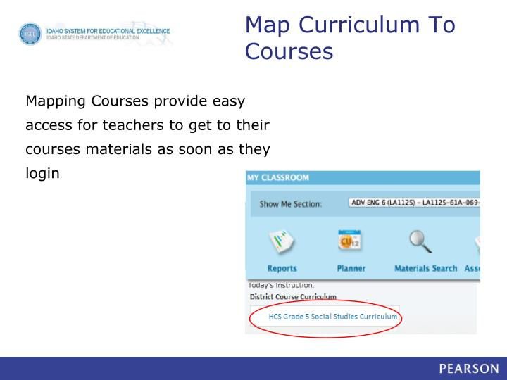 Map Curriculum To Courses