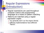regular expressions introduction