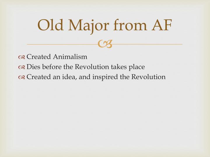 Old Major from AF